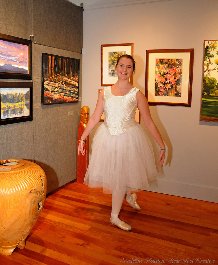 Dancers from Ballet Theatre of Washington visited the Rectangle Gallery during Centralia, Washington's Third Thursday on October 20, 2016.