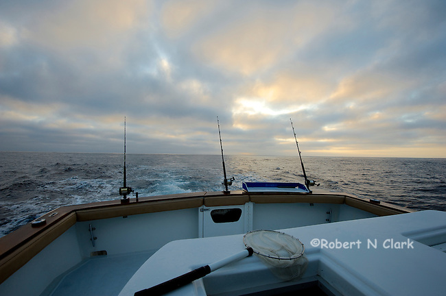 Offshore fishing off the coast of San Diego and Northern Baja California on the sport fisher Faith  Heading out in the morning.