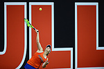 ATHENS, GA - MAY 23: Brooke Austin of the University of Florida serves against Stanford University during the Division I Women's Tennis Championship held at the Dan Magill Tennis Complex on the University of Georgia campus on May 23, 2017 in Athens, Georgia. (Photo by Steve Nowland/NCAA Photos via Getty Images)
