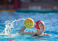 Stanford, CA - January 31, 2015.  Stanford Women's WaterPolo vs. UC Davis at Belardi Pool on the Stanford Campus.