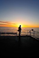 Contemplation - Sunset after departing Half Moon Island