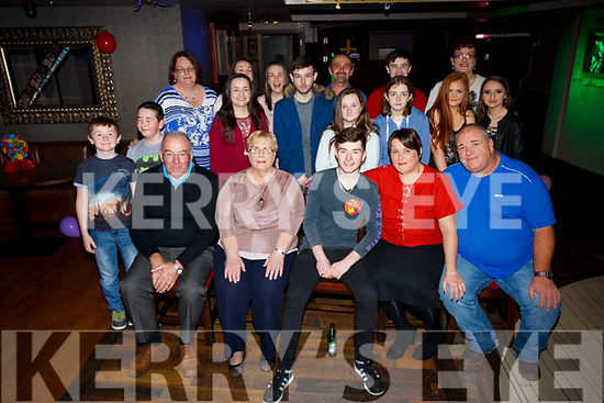 Alex Rohan Keane, Cahermoneen, Tralee, celebrates his 18th birthday with family and friends at the Abbey Inn on Saturday