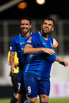 Lucas da Silva SC Kitchee (L) celebrating his score with SC Kitchee Midfielder Fernando Augusto (R) during the week two Premier League match between Kitchee and Dreams FC at on September 10, 2017 in Hong Kong, China. Photo by Marcio Rodrigo Machado / Power Sport Images