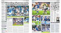 Double Page spread coverage of AFC Telford United v Lowestoft Town FC in the 'Eastern Daily Press' 21/12/15.