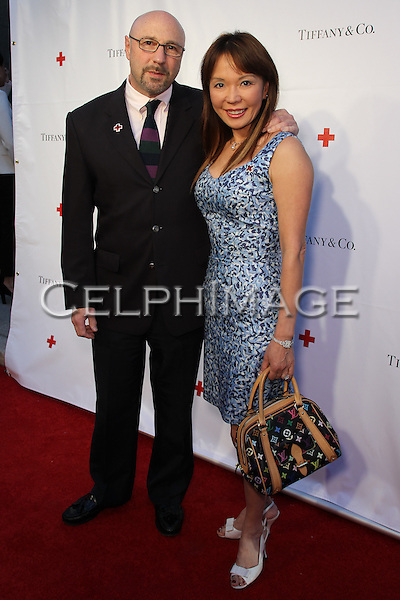 JASON HYMES, SALLY PAI. Red Carpet arrivals to An Evening of Legendary Style, honoring the American Red Cross Tiffany Circle Society of Women Leaders, at Tiffany & Co. on Rodeo Drive. Beverly Hills, CA, USA. May 6, 2010.
