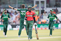Shakib Al Hasan (Bangladesh) loses another partner during Pakistan vs Bangladesh, ICC World Cup Cricket at Lord's Cricket Ground on 5th July 2019