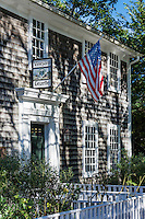 Vineyard Gazettle Newspaper offices, Edgartown, Martha's Vineyard, Massachusetts, USA.