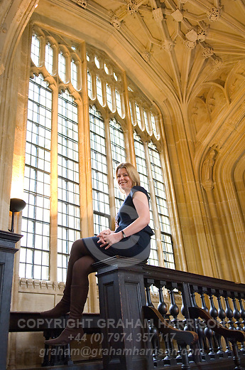 Laura Trevelyan in the Divinity School at the Bodleian Library during the Sunday Times Oxford Literary Festival, UK, 16 - 24 March 2013. <br />
