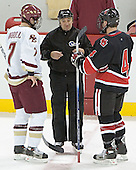 Peter Harrold, Chuck Tomes - The Boston College Eagles defeated Northeastern University Huskies 5-3 on Saturday, November 19, 2005, at Kelley Rink in Conte Forum at Chestnut Hill, MA.