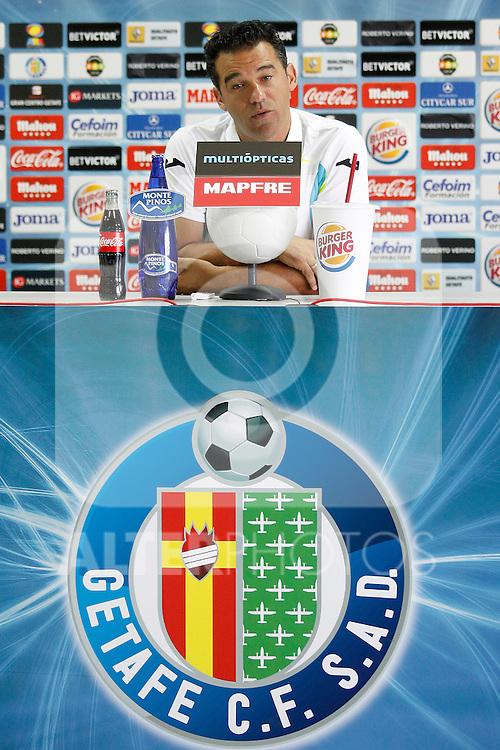 Getafe's coach Luis Garcia in press conference. July 7, 2011. (ALTERPHOTOS/Acero)