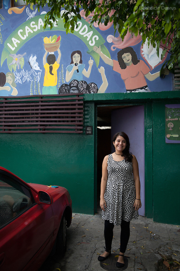 "Sara García Gross portrayed at ""La Casa de Todas"" in San Salvador, El Salvador on June 10, 2015. Abortion in El Salvador is illegal. The law formerly permitted an abortion to be performed under some limited circumstances, but, in 1998, all exceptions were removed when a new abortion law went into effect. Photo by Bénédicte Desrus"