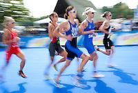 15 AUG 2009 - LONDON, GBR - Lisa Norden - ITU World Championship Series Womens Triathlon.(PHOTO (C) NIGEL FARROW)