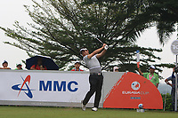 Yuta Ikeda (Asia) on the 5th tee during the Saturday Foursomes of the Eurasia Cup at Glenmarie Golf and Country Club on the 13th January 2018.<br /> Picture:  Thos Caffrey / www.golffile.ie