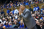 04 November 2016: Duke assistant coach Jeff Capel. The Duke University Blue Devils hosted the Augustana University Vikings at Cameron Indoor Stadium in Durham, North Carolina in a 2016-17 NCAA Division I Men's Basketball exhibition game.