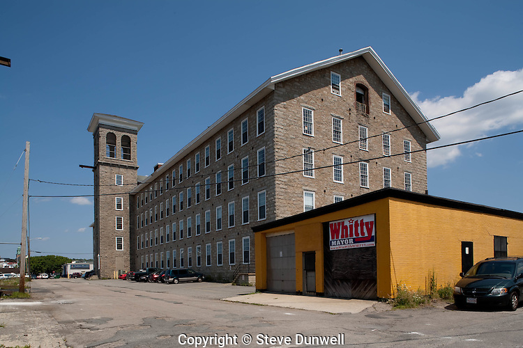 Crescent Mill, Fall River, MA textile mill, granite