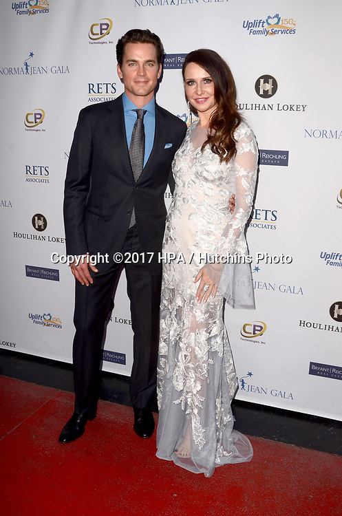 LOS ANGELES - MAY 18:  Matt Bomer Janie Bryant at the Uplift Family Services at Hollygrove Gala at the W Hollywood Hotel on May 18, 2017 in Los Angeles, CA