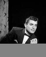 Portrait studio de  Michel Louvain, <br /> 1959 , Quebec.<br /> <br /> PHOTO :  Agence Quebec Presse