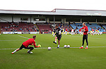 Simon Moore of Sheffield Utd warms up during the English League One match at Glanford Park Stadium, Scunthorpe. Picture date: September 24th, 2016. Pic Simon Bellis/Sportimage