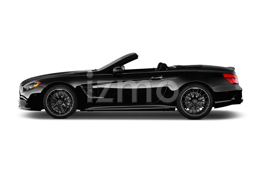 Car driver side profile view of a 2017 Mercedes Benz SL AMG 63 2 Door Convertible