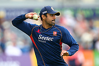 Ravi Bopara of Essex throws the vll ahead of Gloucestershire vs Essex Eagles, NatWest T20 Blast Cricket at The Brightside Ground on 13th August 2017