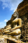 Thailand, Sukhothai, Buddha image at Wat Mahathat Sukhothai, photo: thaila104  .Photo copyright Lee Foster, www.fostertravel.com, 510/549-2202, lee@fostertravel.com