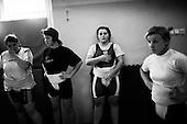 Krotoszyn 05.09.2010 Poland<br /> Sumo players during training.<br /> Poles do not know much about sumo. Japan's national sport remains a mystery, except for the image of the very big and fat sumo wrestlers. However Polish sumo wrestlers have been, for many years, classified among world's leading sportsmen in this field. Since 1995 more and more followers join the sumo sections, fascinated with the art of fighting on the clay dohyo.<br /> Photo: Adam Lach / Napo Images<br /> <br /> Zawodniczki sumo podzcas treningu.<br /> Polacy niewiele wiedza o sumo. Narodowy sport Japonii to wciaz tajemnica. Kojarzy sie jedynie z wielkimi i grubymi mezczyznami. Jednak zawodnicy z Polski od lat naleza do swiatowej czolowki w tej dyscyplinie. Od 1995 roku w sekcjach sumo przybywa zawodnik&oacute;w zafascynowanych zmaganiami na glinianym dohyo.<br /> Fot: Adam Lach / Napo Images