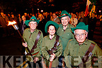 Brendan Moriarty, Molly O'Donoghue, Gerard O'Donoghue and Sean Kerins, pictured at the Remembrance of Thomas Ashe torchlight parade in Ashe Street, on Monday night last.