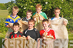 SACK RACE: Pupils from the O Brenan's National School who entered the O'Brennan's National School Sport Day Sack Race on Friday.Front l-r: Padraig Leen, Denis Leen and Jake Sweeney. Back l-r: Eamon Reidy, Declan Locke, Aidan Devane and Eoin Keane..