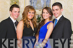 Pictured at the Gaelcholáiste Chiarraí Debs on Friday night in the Abbeygate hotel are, from left: Jamie Flannery, Cliona Hurley, Mary Rose Breen and Eoin Horgan.