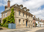 Large Georgian house in the Saxon town of Cricklade, Wiltshire, England, UK