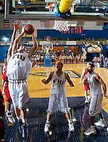 Florida International University Golden Panthers (9-12, 4-7 Sun Belt Conference) versus Arkansas State University (11-11, 6-4 Sun Belt Conference) at Pharmed Arena, Miami, Florida on Saturday, January 27, 2007.  The Golden Panthers defeated ASU, 80-61...Freshman forward Nikola Gacesa (30)