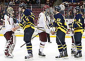 Parker Milner (BC - 35), Kyle Bigos (Merrimack - 3), Isaac MacLeod (BC - 7), Brendan Ellis (Merrimack - 22), John Heffernan (Merrimack - 8) - The Boston College Eagles defeated the Merrimack College Warriors 4-2 to give Head Coach Jerry York his 900th collegiate win on Friday, February 17, 2012, at Kelley Rink at Conte Forum in Chestnut Hill, Massachusetts.