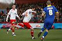 Robin Shroot of Stevenage shoots.- Stevenage v Leyton Orient- npower League 1 - Lamex Stadium, Stevenage - 2nd January 2012  .© Kevin Coleman 2012