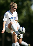Andrea Crane, of Duke, before the game on Sunday, October 16th, 2005 at Duke University's Koskinen Stadium in Durham, North Carolina. The Duke University Blue Devils defeated the University of Maryland Terrapins 1-0 during an NCAA Division I Women's Soccer game.