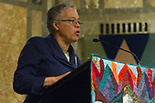 The Arc of the Moral Universe, a term coined by Dr. Martin Luther King Jr. was the topic of a presentation at the First Unitarian Church located at 57th and Woodlawn Sunday afternoon. Cook County Board President, Toni Preckwinkle and historian and civil rights leader, Timuel Black were guest speakers.<br /> <br /> 7650 &ndash; Cook County Board President, Toni Preckwinkle.<br /> <br /> Please 'Like' &quot;Spencer Bibbs Photography&quot; on Facebook.<br /> <br /> All rights to this photo are owned by Spencer Bibbs of Spencer Bibbs Photography and may only be used in any way shape or form, whole or in part with written permission by the owner of the photo, Spencer Bibbs.<br /> <br /> For all of your photography needs, please contact Spencer Bibbs at 773-895-4744. I can also be reached in the following ways:<br /> <br /> Website &ndash; www.spbdigitalconcepts.photoshelter.com<br /> <br /> Text - Text &ldquo;Spencer Bibbs&rdquo; to 72727<br /> <br /> Email &ndash; spencerbibbsphotography@yahoo.com