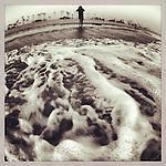 Sea foam at Venice Beach