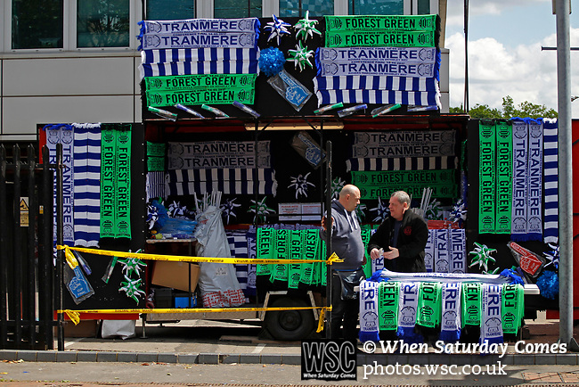Tranmere Rovers 1 Forest Green Rovers 3, 14/05/2017. Wembley Stadium, Conference play off Final. Scarf sellers outside Wembley Stadium before the Vanarama Conference play off Final  between Tranmere Rovers v Forest Green Rovers at Wembley. Photo by Paul Thompson.