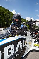 Jun 17, 2017; Bristol, TN, USA; NHRA top fuel driver Shawn Langdon during qualifying for the Thunder Valley Nationals at Bristol Dragway. Mandatory Credit: Mark J. Rebilas-USA TODAY Sports