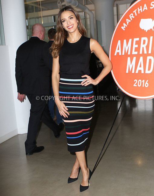 www.acepixs.com<br /> <br /> October 22 2016, New York City<br /> <br /> Jessica Alba made an appearance at the Martha Stewart 2016 American Made Summit on October 22 2016 in New York City<br /> <br /> By Line: Nancy Rivera/ACE Pictures<br /> <br /> <br /> ACE Pictures Inc<br /> Tel: 6467670430<br /> Email: info@acepixs.com<br /> www.acepixs.com