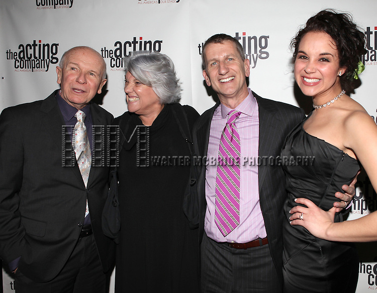 Terrence McNally & Tyne Daly & Tom Kirdahy & Alexandra Silber.attending the After Party for  'Angela Lansbury and Friends Salute Terrence McNally' - A Benefit for the Acting Company in New York City.