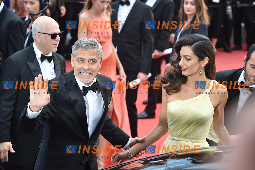 George Clooney and his wife Amal Clooney  <br /> Festival di Cannes 2016 <br /> Foto Panoramic / Insidefoto