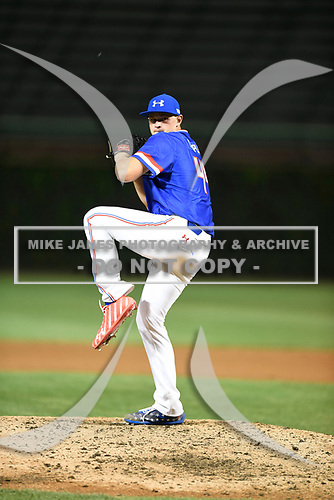 Chandler Champlain (44) of Santa Margarita Catholic High School in Coto de Caza, California during the Under Armour All-American Game presented by Baseball Factory on July 29, 2017 at Wrigley Field in Chicago, Illinois.  (Mike Janes/Four Seam Images)