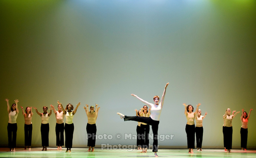 Southern Methodist University students rehearse Batucada for the Meadows Dance Ensemble at the Bob Hope Theater in the Owens Arts Center at Southern Methodist University in Dallas, Texas, Tuesday, April 1, 2008. The act includes 25 dancers...MATT NAGER/ SPECIAL CONTRIBUTER