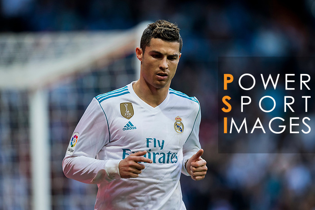 Cristiano Ronaldo of Real Madrid celebrates during the La Liga 2017-18 match between Real Madrid and RC Deportivo La Coruna at Santiago Bernabeu Stadium on January 21 2018 in Madrid, Spain. Photo by Diego Gonzalez / Power Sport Images