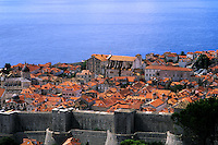 Croatia close up of beautiful coast resort old city of Dubrovnik Croatia