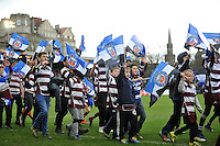 A general view of the Half-time parade. Aviva Premiership match, between Bath Rugby and Wasps on March 4, 2017 at the Recreation Ground in Bath, England. Photo by: Patrick Khachfe / Onside Images