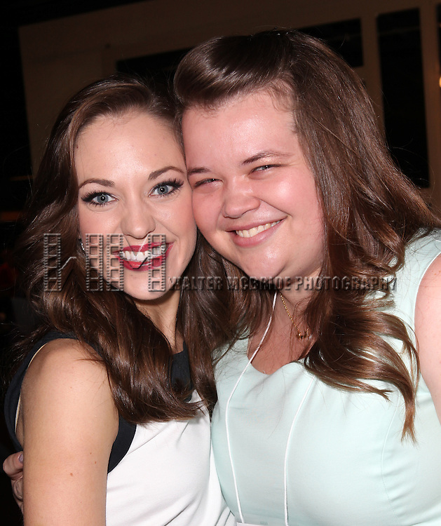 Laura Osnes & Broadway Photographer Jenny Anderson attending the 2013 Tony Awards Meet The Nominees Junket  at the Millennium Broadway Hotel in New York on 5/1/2013...