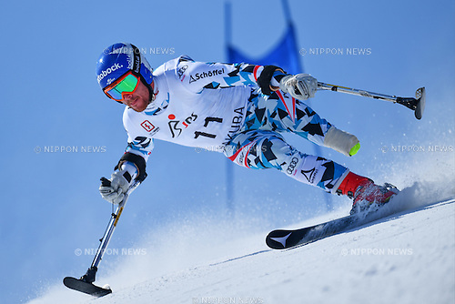 Thomas Grochar (AUT), <br /> MARCH 5, 2017 - Alpine Skiing :<br /> IPC Alpine World Cup Hakuba,<br /> Men's Giant Slalom <br /> Standing LW2 <br /> at Hakuba Happo One, Nagano Japan.<br /> (Photo by AFLO SPORT)