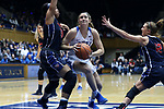 DURHAM, NC - DECEMBER 29: Duke's Haley Gorecki. The Duke University Blue Devils hosted the Liberty University Flames on December 29, 2017 at Cameron Indoor Stadium in Durham, NC in a Division I women's college basketball game. Duke won the game 68-51.