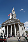 St Martin in the Fields church, Trafalgar Square, London, England